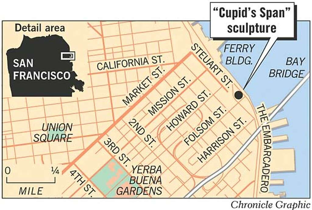 SF struck by love Cupids big bow gets rise out of passersby