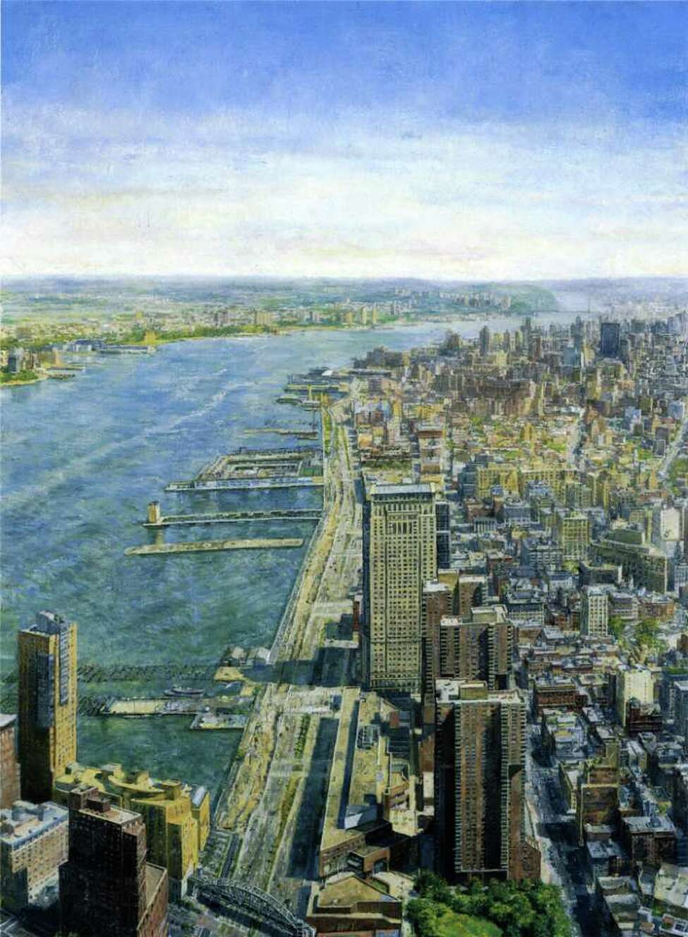 This oil painting, titled From World Trade Center, Looking Northwest by Sjoerd Doting, will be displayed in the exhibition Before the Fall: Remembering the World Trade Center, at the New York State Museum. The exhibition runs through April 28 in the West Gallery.