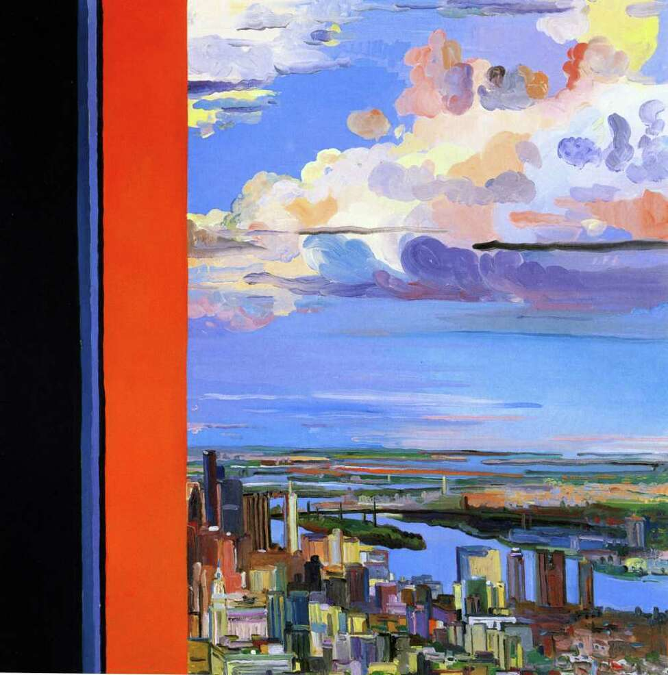 This oil painting, titled From Within, Remembered View by Nancy Friese, will be displayed in the exhibition Before the Fall: Remembering the World Trade Center, at the New York State Museum. The exhibition runs through April 28 in the West Gallery.