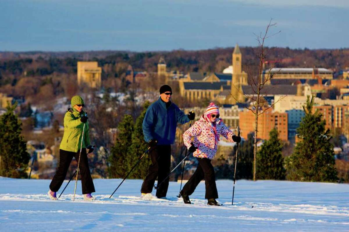 No. 2: Tompkins County . View the full report. Skiers take in a view of Ithaca, NY.
