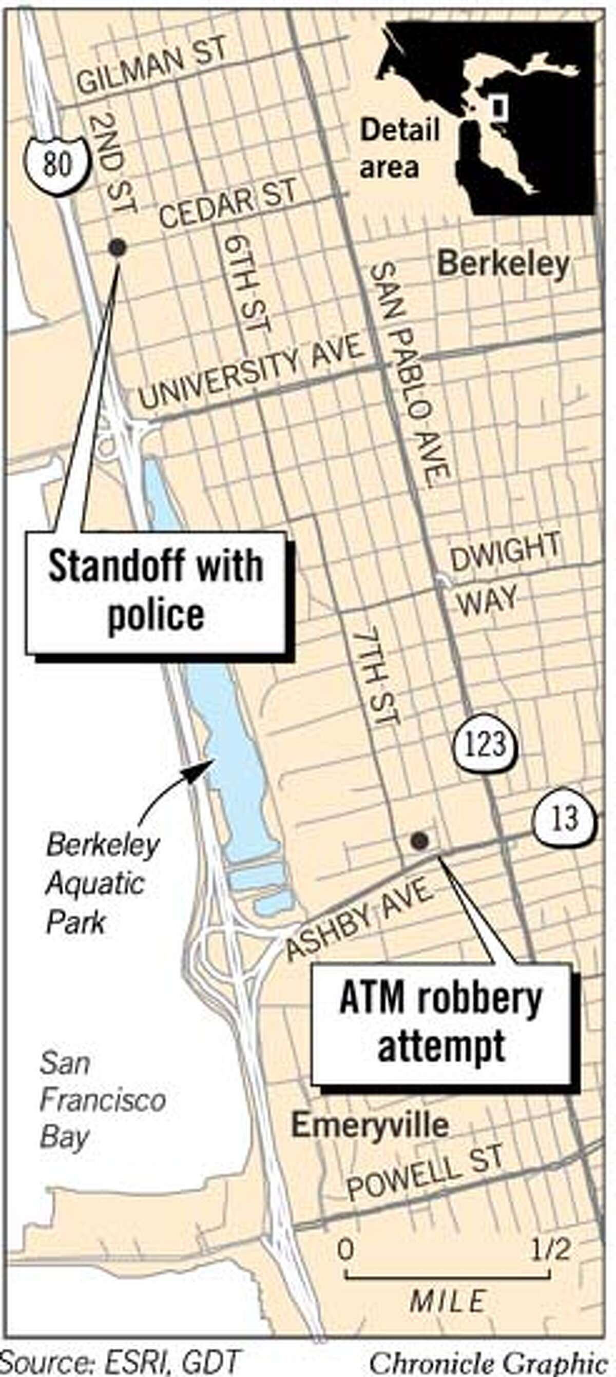 Two Violent Crimes in Berkeley. Chronicle Graphic