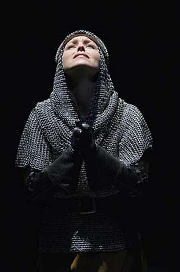 "Oregon Shakespeare Festival's ""King Henry VI.'' Joan La Pucelle (Tyler Layton) prays for guidance before battle. Photo: Handout; By Andree Lanthier"