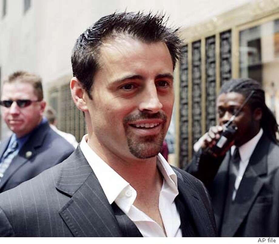 "Matt LeBlanc, star of the new television show ""Joey"", arrives for the NBC presentation of its fall season to advertisers at Radio City Music Hall in New York, Monday, May 17, 2004. After losing two of its signature comedies, NBC will add five new series in the fall. (AP Photo/John Marshall Mantel)"