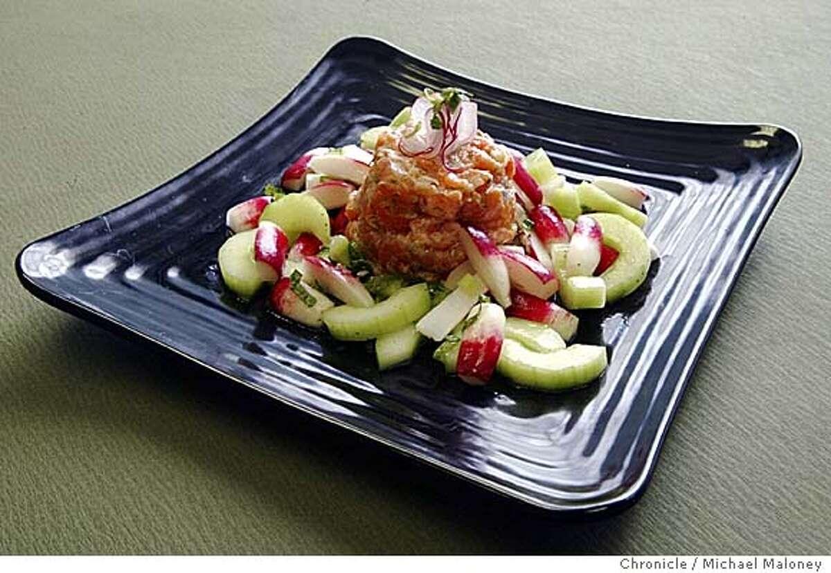 Salmon Tartar with Radish Salad Photo by Michael Maloney / San Francisco Chronicle