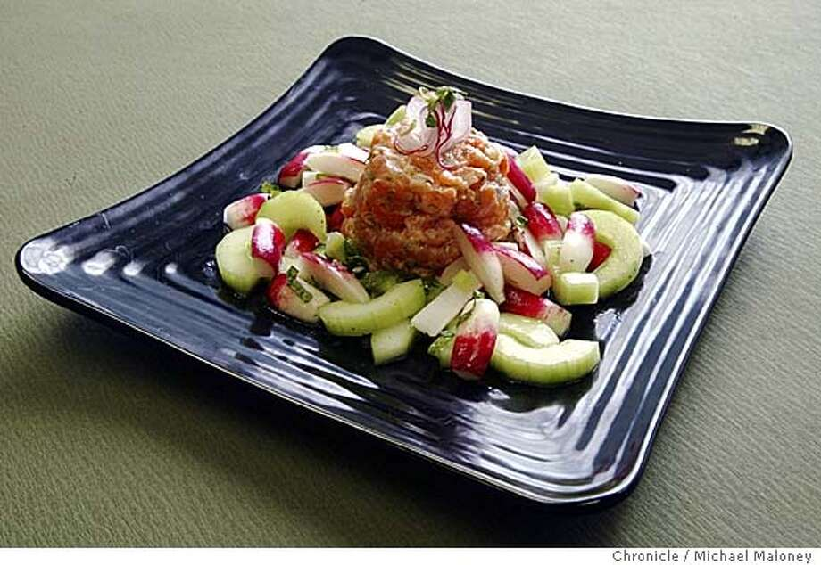 Salmon Tartar with Radish Salad  Photo by Michael Maloney / San Francisco Chronicle Photo: Michael Maloney