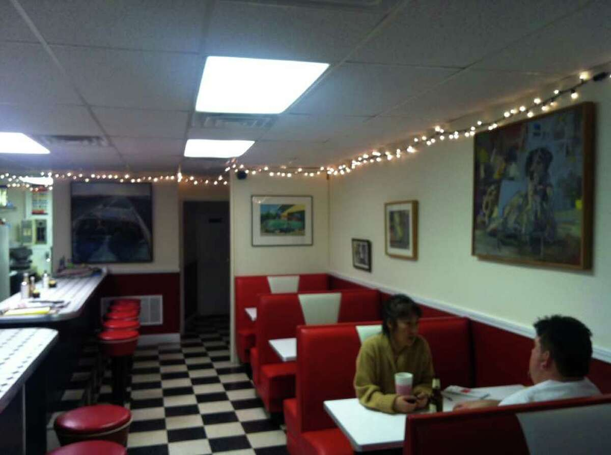 A view from inside the Brigadoon Cafe, 14 Ives St., taken on Friday, Jan. 27, 2012.