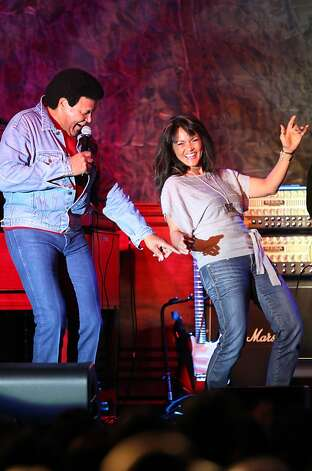 "Singer-composer Chubby Checker dances the Twist with Tanja Bastiaans from Marysville California at Thunder Valley Casino on the eve of the 50th anniversary of his history-making song, ""the Twist"". Friday, January 6, 2012 Photo: Lance Iversen, The Chronicle"