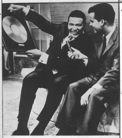 Chubby Checker , inventor of the Twist, with Dick Clark, 1984