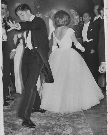 William Wieder and Elizabeth Metcal dance the Twist in 1961. Photo: Bill Young, The Chronicle 1961