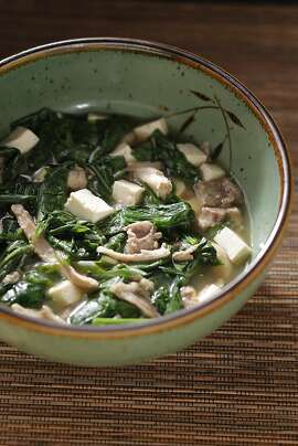 Ginger with Fava Leaf Soup as seen in San Francisco, California on Wednesday, January 11, 2012. Styling by Lynne Char Bennett.