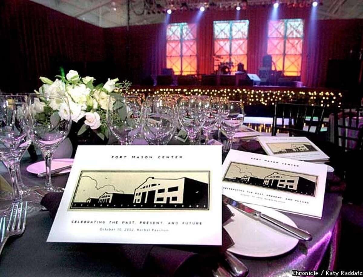 Fort Mason's 25th Anniversary dinner set up. Chronicle photo by Katy Raddatz