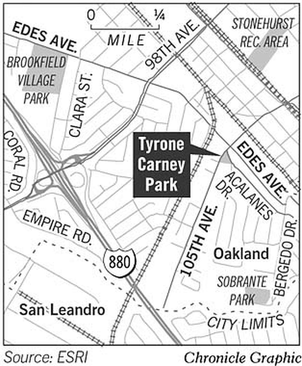 Tyrone Carney Park. Chronicle Graphic