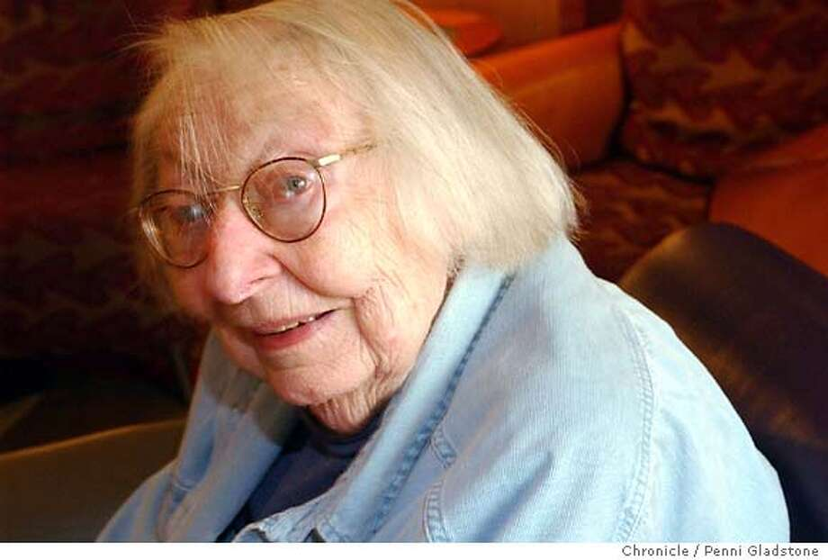 Jane Jacobs, 88 yr old author who has focused on cities.  on 5/17/04 in San Francisco, CA.  must credit photo by Penni Gladstone/ Photo: Penni Gladstone