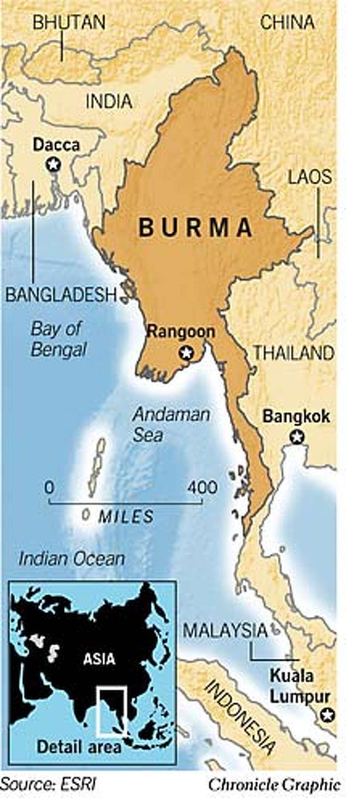 Burma. Chronicle Graphic