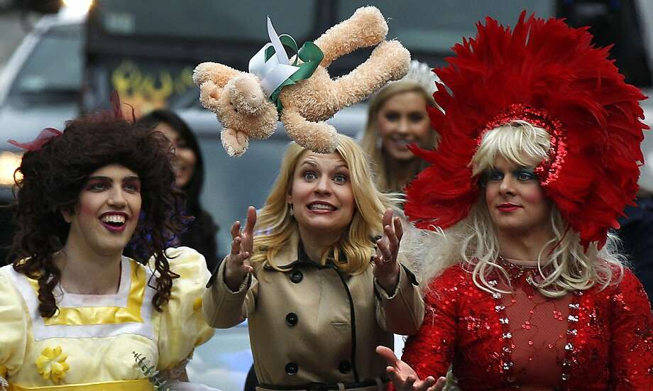 And the prize for the best Paula Deen impression goes to ...Harvard honors Claire Danes as the Hasty Pudding Theatricals Woman of the Year with a parade and hurled stuffed animals. Photo: Charles Krupa, Associated Press