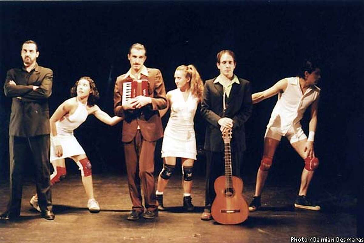 Company members of Grupo Krapp. With a sense of humor and explosive energy not often seen in contemporary Latin American dance, the company from Buenos Aires brings together a great mixture of theatrical performance and artistic movement in their programs. Photo by Damian Desmaras