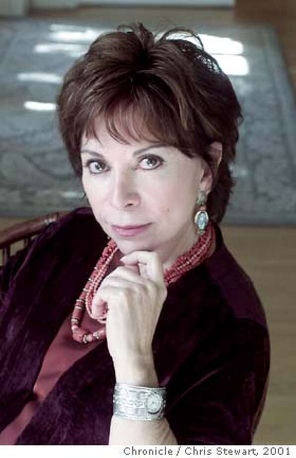 """NBALLENDE03-C-09SEP01-NF-CS San Rafael author Isabel Allende has just published an english language version of """"Portrait in Sepia,"""" a sequel to her popular novel """"Daughter of Fortune."""" BY CHRIS STEWART/THE CHRONICLE Photo: CHRIS STEWART"""