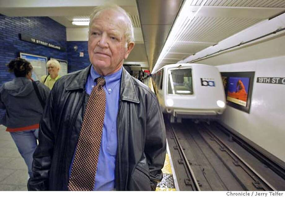 Event on 5/11/04 in Oakland. For more than 30 years Mike Healy has been the official spokesman for BART. Healy is retiring. His successor has not yet been named. This photo is in the 19th Street BART Station. Chronicle photo by Jerry Telfer / The Chronicle Photo: Jerry Telfer