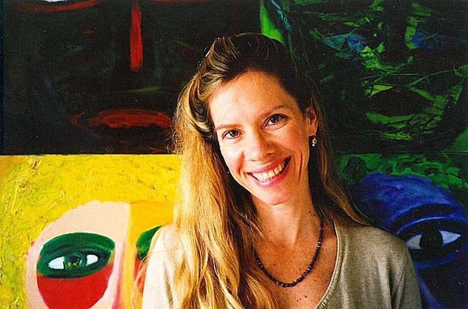 Evangeline Welch leads a paint dancing workshop.