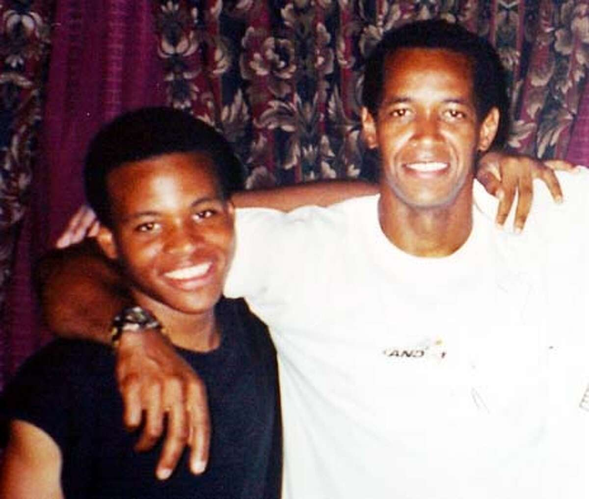 John Lee Malvo, 17, left, and John Allen Muhammad, are seen in this recent family photo in Louisiana, provided by Muhammad's former sister-in-law Sheron Norman, Thursday Oct. 24, 2002, in Baton Rouge, La. Muhammad, a 41-year-old Army veteran and the teenager described as his stepson were arrested at a roadside rest stop Thursday for questioning in the three-week wave of deadly sniper attacks that have terrorized the Washington, D.C., area. (AP Photo/Courtesy of Sheron Norman)