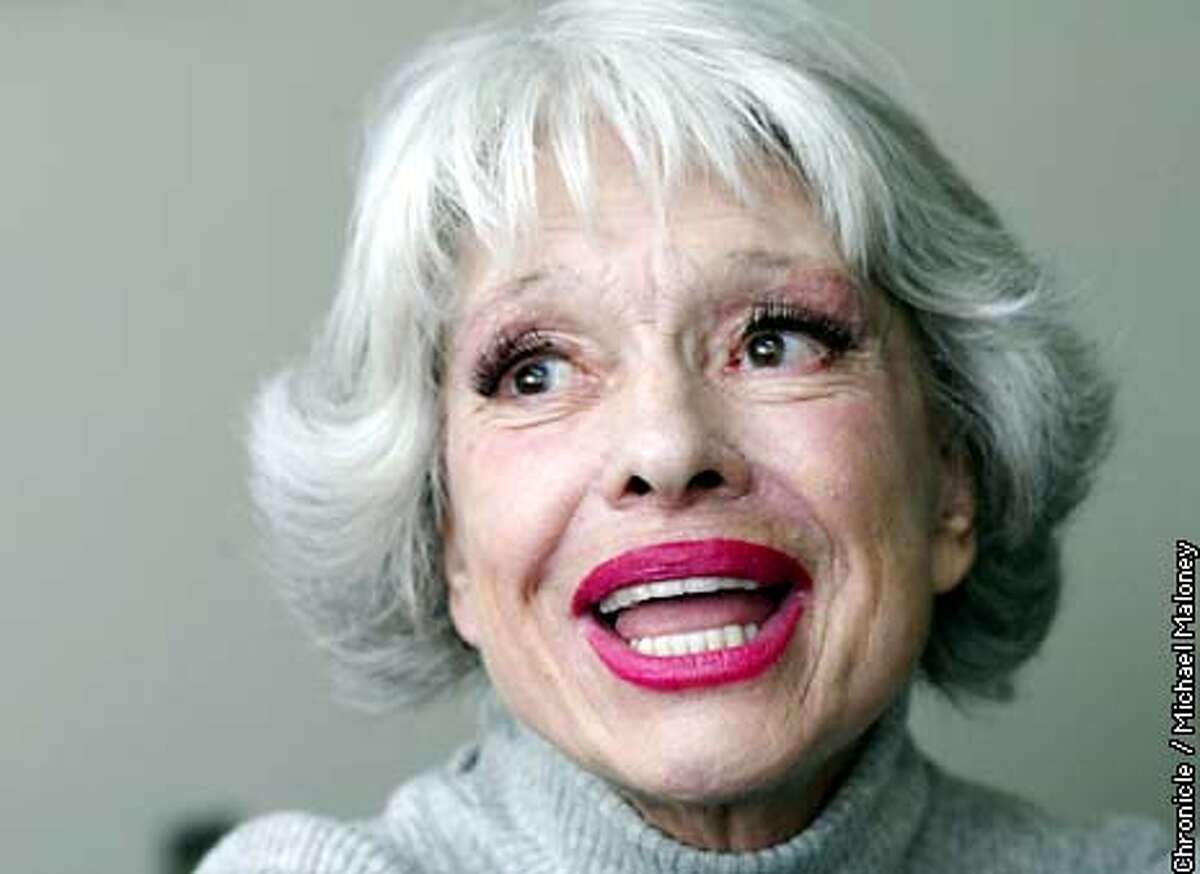 Carol Channing in town to promote a new book. CHRONICLE PHOTO BY MICHAEL MALONEY