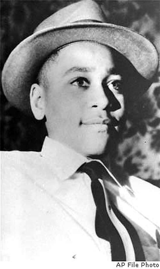 ** FILE ** An undatedblack-and-white file of Emmett Louis Till, whose weighted down body was found in the Tallahatchie River near the Delta community of Money, Mississippi, Aug. 31, 1955. The Justice Department said Monday, May 10, 2004, it is reopening investigation of 1955 killing of Till, an early catalyst for the civil rights movement. (AP Photo/File) UNDATED B & W FILE PHOTO