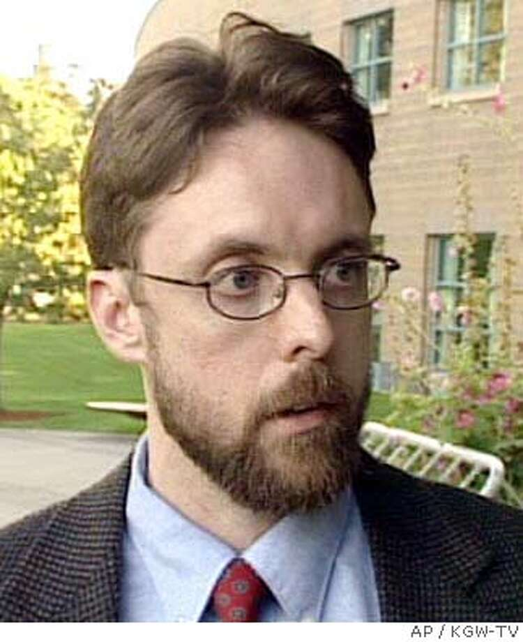 ** FILE ** Portland, Ore., lawyer Brandon Mayfield, 37, shown in this undated image from video, was arrested by FBI agents Thursday, May 6, 2004 as part of the investigation into the deadly train bombings in Spain, federal officials said. Mayfield, a U.S. citizen, was taken into custody on a material witness warrant. The arrest is the first known in the United States with connections to the March 11 bombings in Madrid. (AP Photo/KGW-TV) UNDATED PHOTO BEST QUALITY TAKEN FROM VIDEO TV OUT