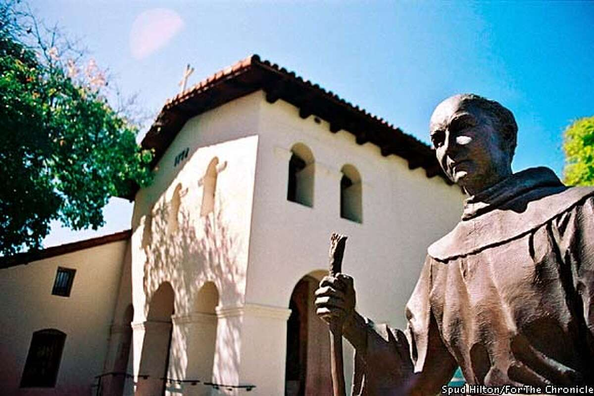 Founder: Father Junipero Serra at Mission San Luis Obispo de Tolosa. Photo by Spud Hilton, special to the Chronicle
