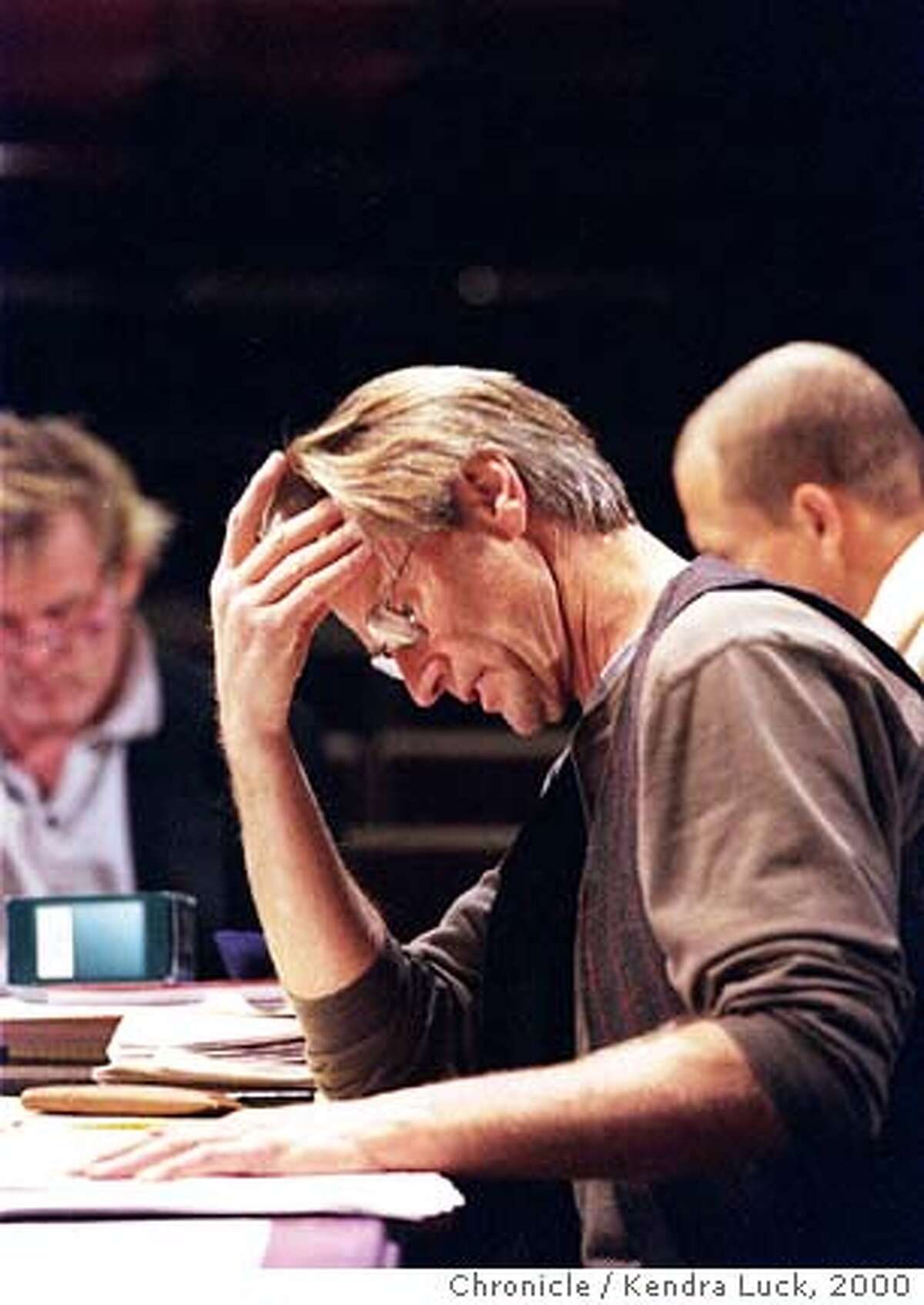SHEPARD05 5-C-22OCT00-PK-KL--Actor and playwright Sam Shepard during a rehersal of his new play 'The Late Henry Moss' at the Magic Theatre in San Francisco. (KENDRA LUCK/SAN FRANCISCO CHRONICLE)