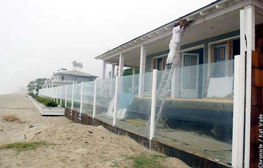 COASTALk-C-24SEP02-MN-KW - The four lot beach front Malibu home belonging to David Geffen sports a controversial sea walls built with special consideration from the costal commission. SAN FRANCISCO CHRONICLE PHOTO BY KAT WADE