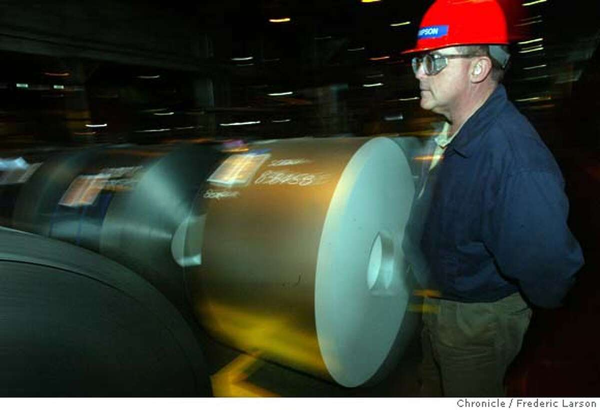 ; Rod Simpson Division Manager for USS-Posco, a good-sized, ultra-modern steel plant in Pittsburg, City:� Day}/ The Chronicle;