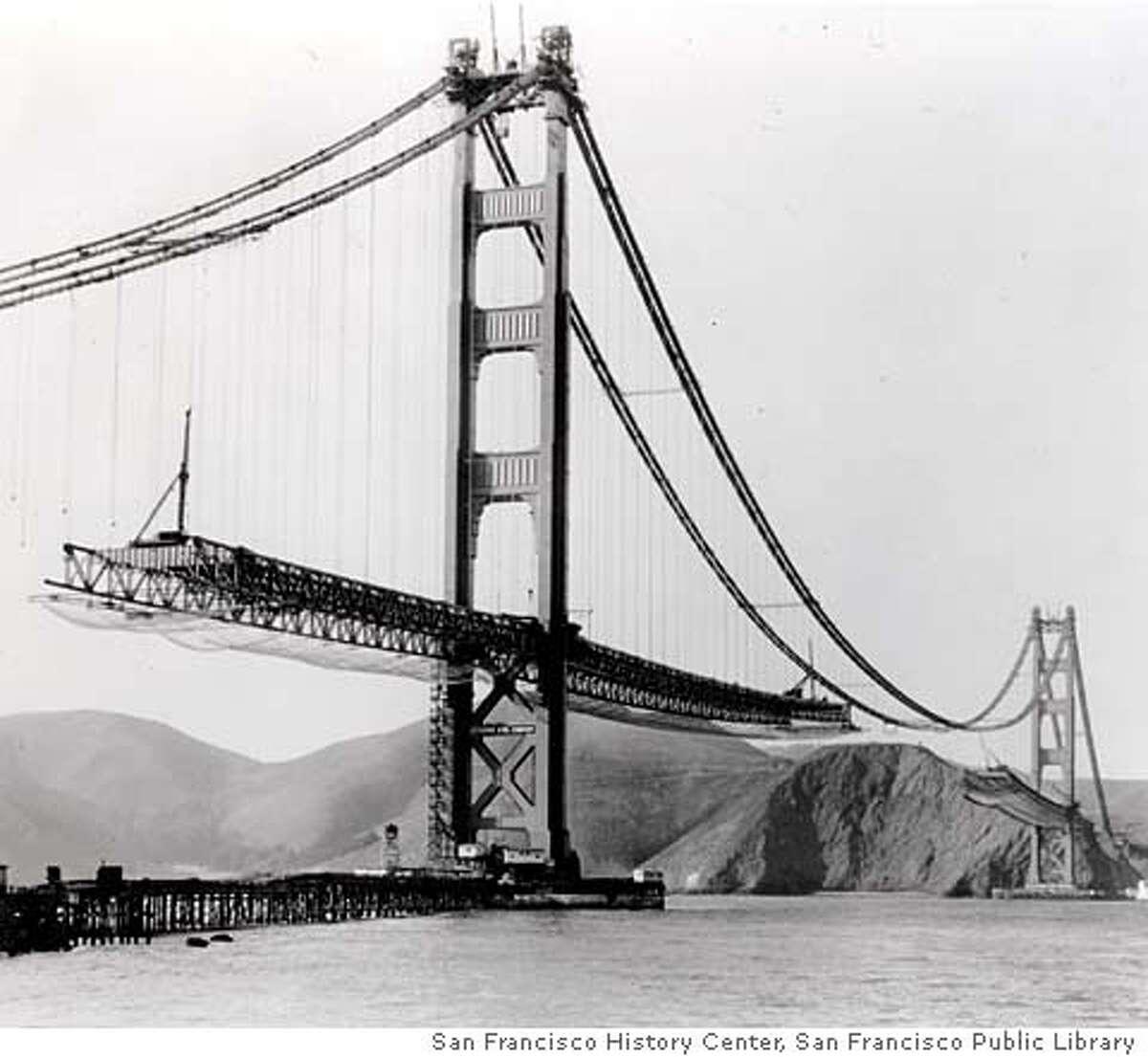 GGBRIDGE01 Golden Gate Bridge, March 30, 1965 Credit: San Francisco History Center, San Francisco Public Library