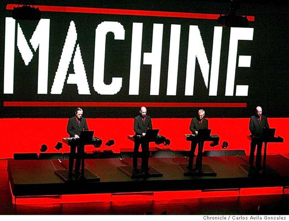 Kraftwerk, the German band that spawned modern electronica back in the '70s played at the Warfield in San Francisco, Ca., on Wednesday, April 28, 2004. Photo taken on 04/28/04 in San Francisco, Ca. Photo By Carlos Avila Gonzalez / The San Francisco Chronicle Photo: Carlos Avila Gonzalez