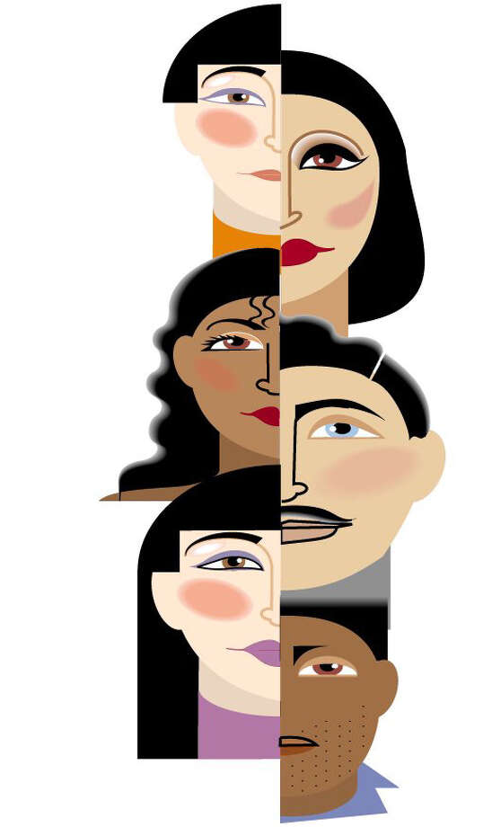 for biz jan. 30 2012 Small business feature  20071025_WHATWORKS_3Size as needed (160 dpi, 19p x 33p), Ana Larrauri color illustration of female, minority faces. The Miami Herald, 1996  With WHATWORKS, Knight-Ridder by Susana Barciela   CATEGORY: ILLUSTRATION SUBJECT: 14 WHATWORKS illus ARTIST: Ana Larrauri ORIGIN: Miami Herald TYPE: EPS JPEG SIZE: As needed ENTERED: 5/7/96 REVISED: STORY SLUG: WHATWORKS, Knight-Ridder by Susana Barciela FOR AT-RISK READERS  illustration, features, business, management, employe, employee, manager, executive, worker, labor, union, black, African, American, African-American, Hispanic, woman, risk, MI, 1996, larrauri, barciela
