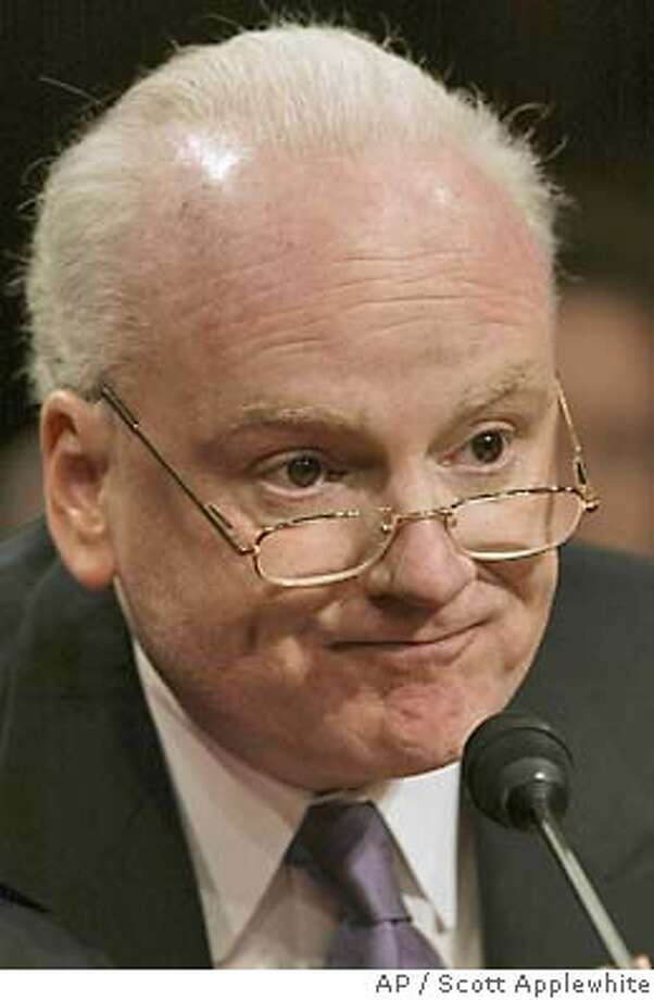 The government's former top counter terrorism adviser Richard Clarke testifies to the federal panel reviewing the Sept. 11 attacks, Wednesday, March 24, 2004, in Washington. (AP Photo/J. Scott Applewhite) Richard Clarke testified before the 9-11 commission. Photo: J. SCOTT APPLEWHITE
