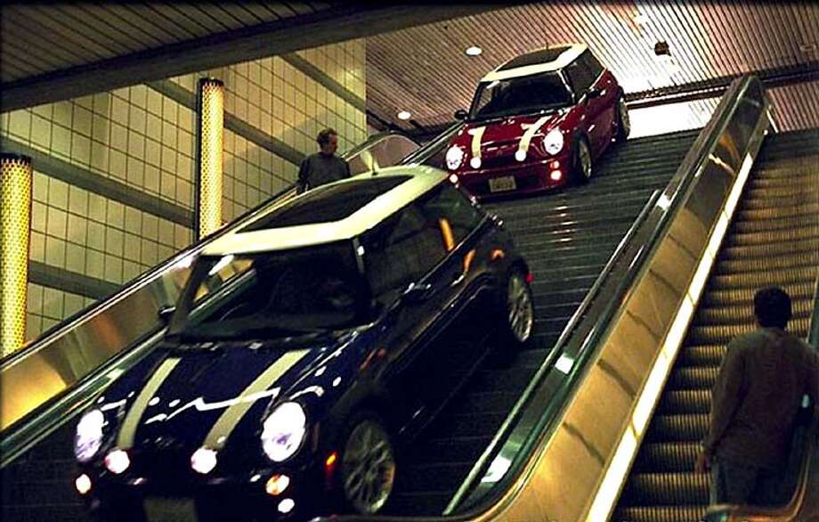 THIS IS A HANDOUT IMAGE. PLEASE VERIFY RIGHTS. ITALIAN JOB-C-14MAY03-DD-HO  A remake of the sixties classic film, this time the traffic jam that will enable the gang to steal the gold bullion is in Los Angeles. New style Mini Coopers will be used to get away down the sidewalks and subways.  HANDOUT PHOTO/VERIFY RIGHTS AND USEAGE Photo: HANDOUT