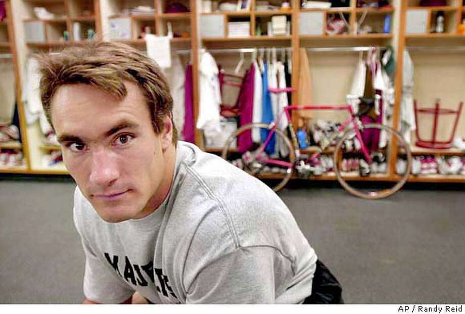 ** FILE ** Arizona Cardinals' Pat Tillman is shown at the Cardinals training facility in this May 19, 2001 photo in Tempe, Ariz. Tillman, who walked away from his professional football career to join the Army Rangers, was killed in Afghanistan, U.S. officials said Friday, April 23, 2003. There were no immediate details how Tillman died. He was 27. (AP Photo/Randy Reid, Arizona Republic) A May 19, 2001 file photo. Maricopa County Out. Mesa Out. Mags Out. Photo: RANDY REID