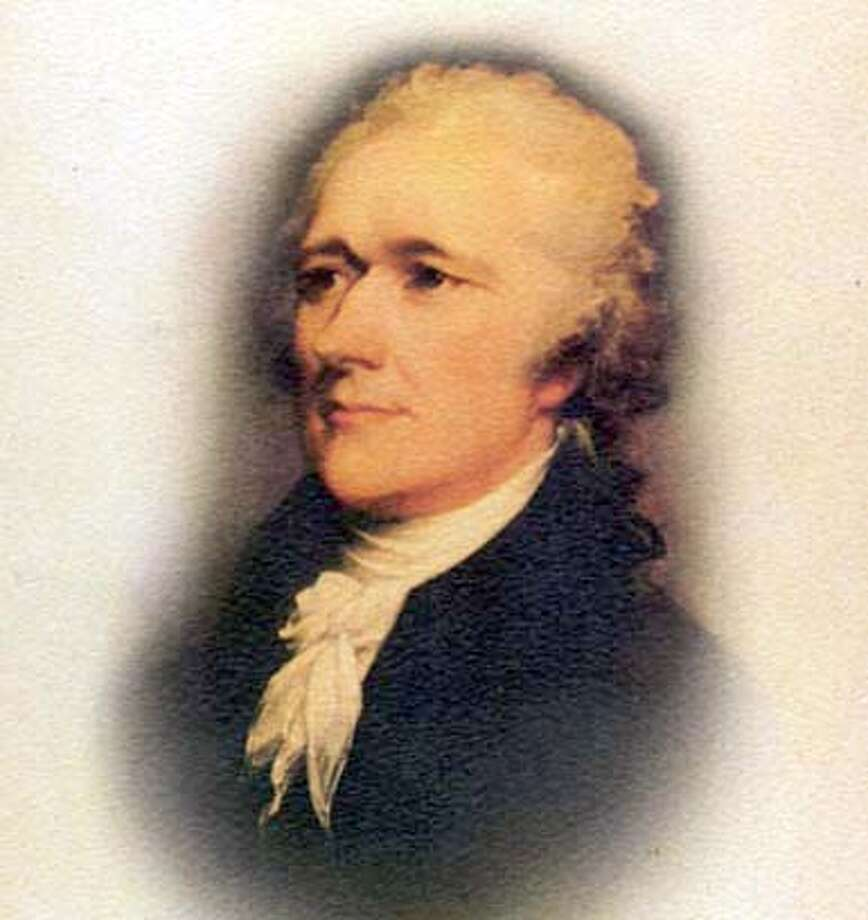 "Image from book jacket of ""Alexander Hamilton"" by Ron Chernow (Penguin Press) to be used with book review only"