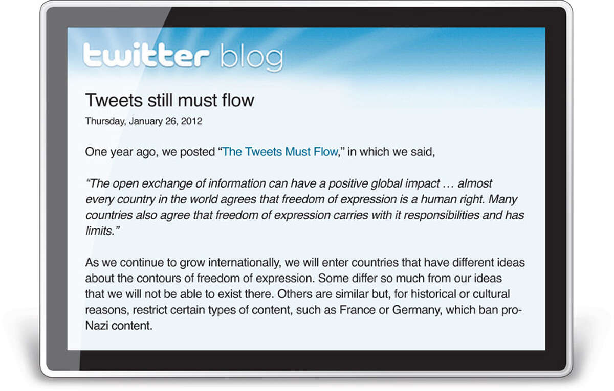 This shows a portion of the announcement Twitter posted.