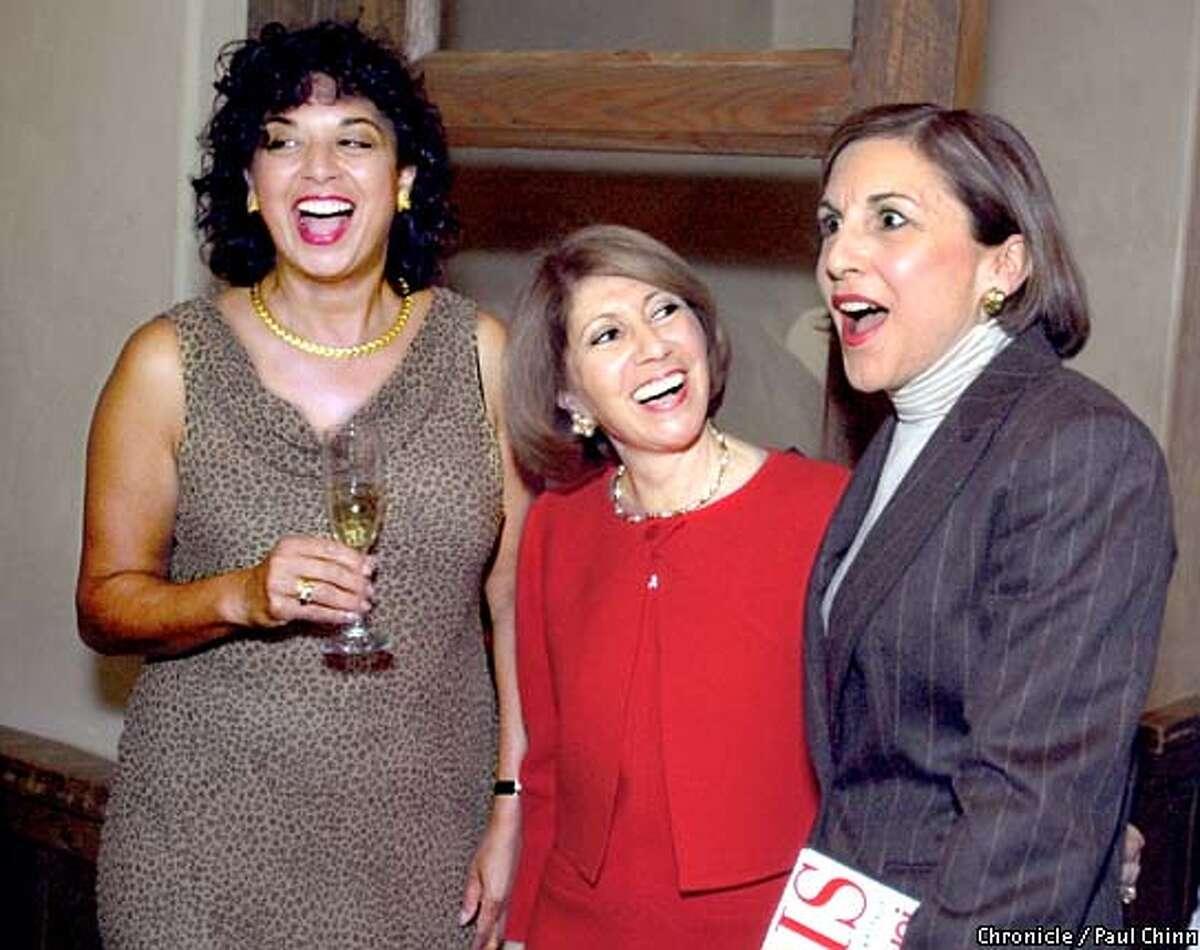 Usha Burns, Athena Blackburn and Marsha Monro Wright (from left) at Kokkari. Chronicle photo by Paul Chinn