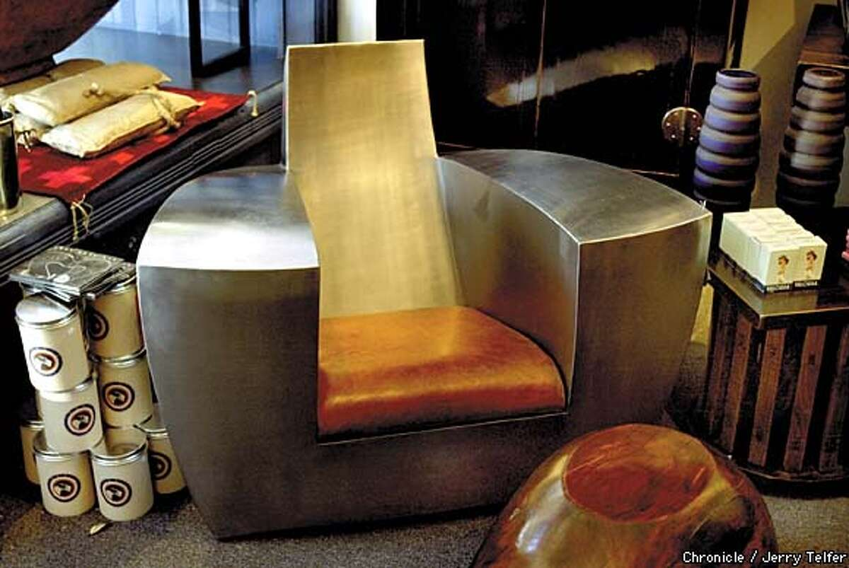 Cubist chairs from a 1970 Paris couture show ($7,250) at Zedd. Chronicle photo by Jerry Telfer