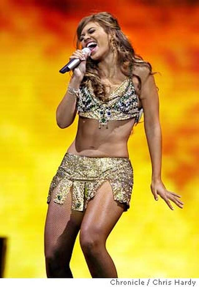 Singer Beyonce performing at the Oakland Arena  Event on 4/18/04 in Oakland.  Chris Hardy / San Francisco Chronicle Photo: Chris Hardy
