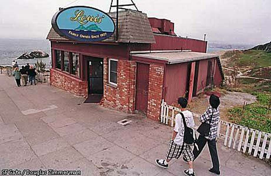Louis' diner, perched near the site of the old Sutro Baths, has been open since 1937. Photo: Douglas Zimmerman, SF Gate