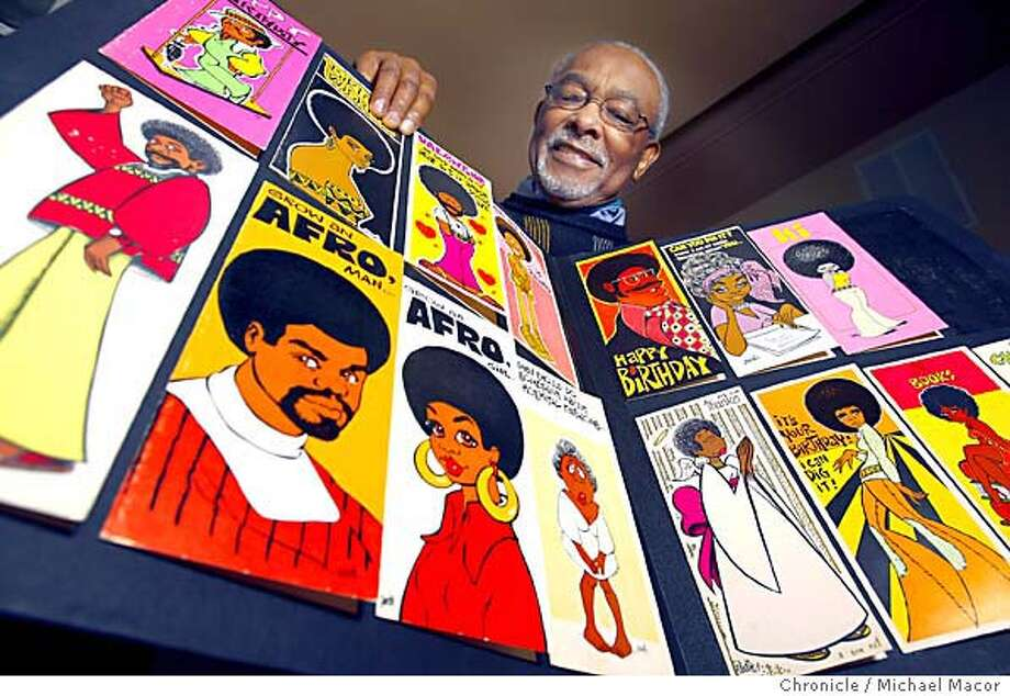 "Cleven ""Goodie"" Goudeau had a successful advertising business but his true love was in greeting cards and cartooning. The Vallejo artist works out of the Vallejo Artist's Guild. Event on 1/22/04 in Vallejo. MICHAEL MACOR / The Chronicle Photo: MICHAEL MACOR"