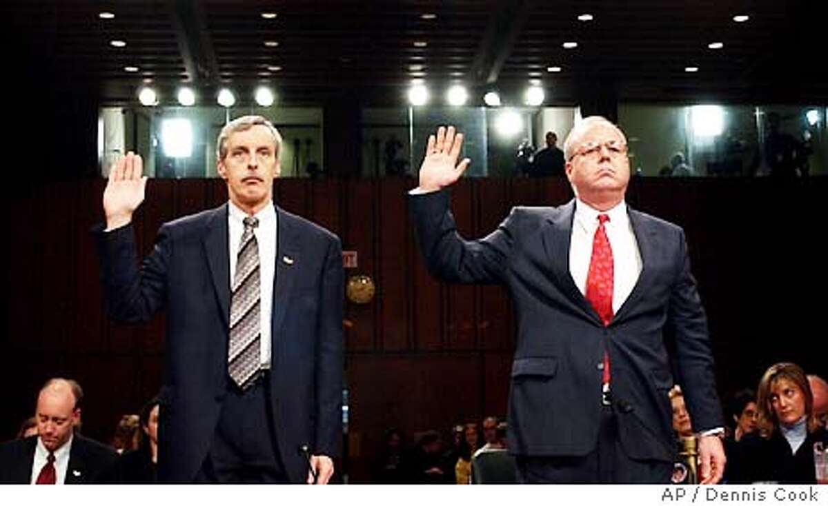 Cofer Black: vice chairman Blackwater USAClass of 1968 Seen here: Thomas J. Pickard, former acting FBI director in the summer of 2001, and Amb. J. Cofer Black, former Director of the CIA's Counterterrorism Center, right, are sworn in before testifying before the commission investigating the Sept. 11 attacks Tuesday, April 13, 2004, on Capitol Hill in Washington. (AP Photo/Dennis Cook)