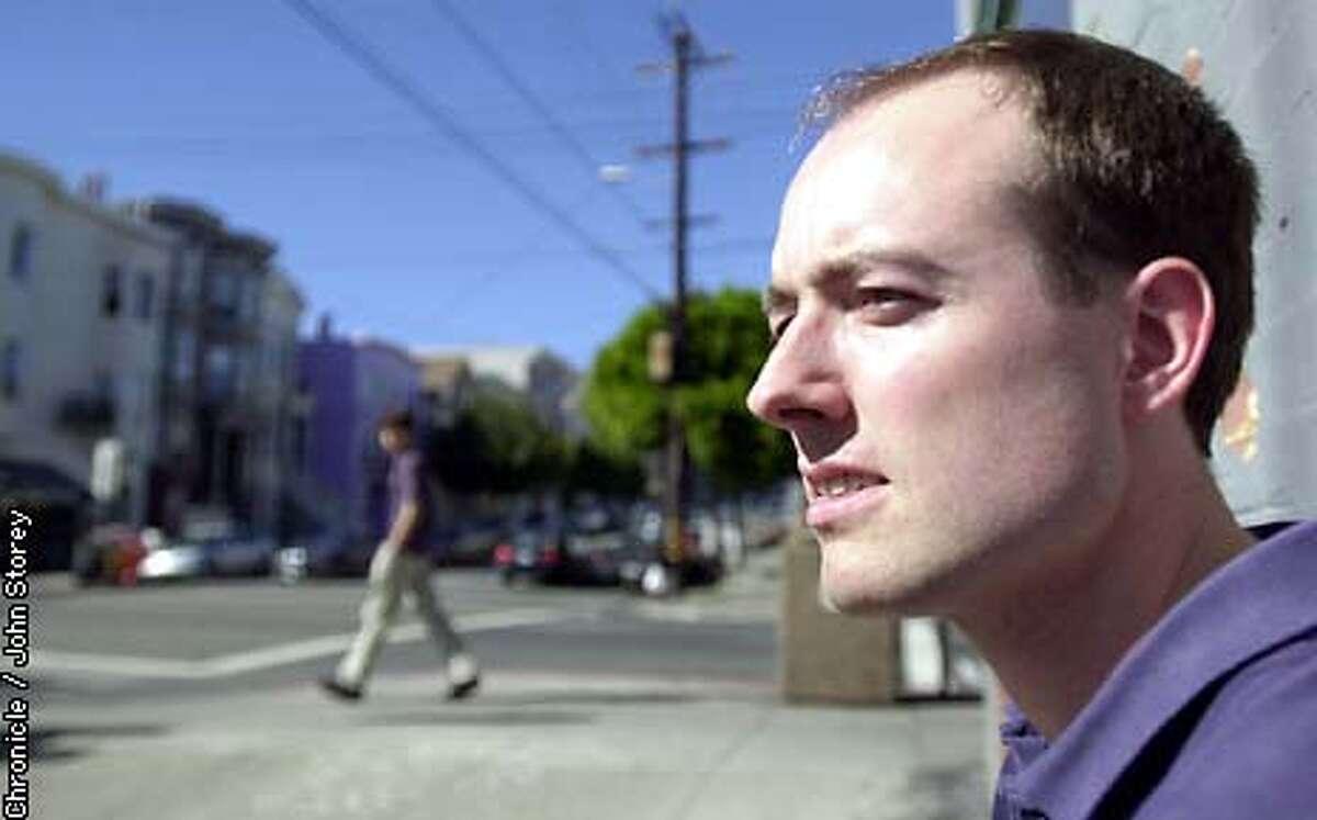 HASLETT21-C-18SEP02-DD-JRS- Author Adam Haslett at Starbucks in Noe Valley in San Francisco. Chronicle Photo by John Storey.