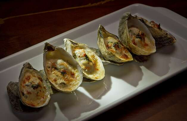 "The ""Shigoku"" Oyster Gratin at Keiko Restaurant in San Francisco, Calif., is seen on Friday, January 20th, 2012. Photo: John Storey, Special To The Chronicle"
