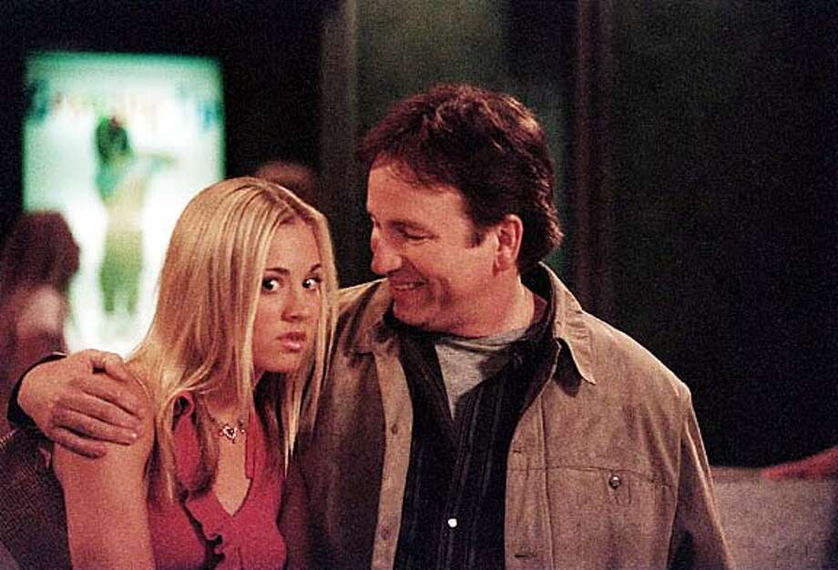 "Kaley Cuoco and John Ritter in ""Eight Simple Rules for Dating My Teenage Daughter."""