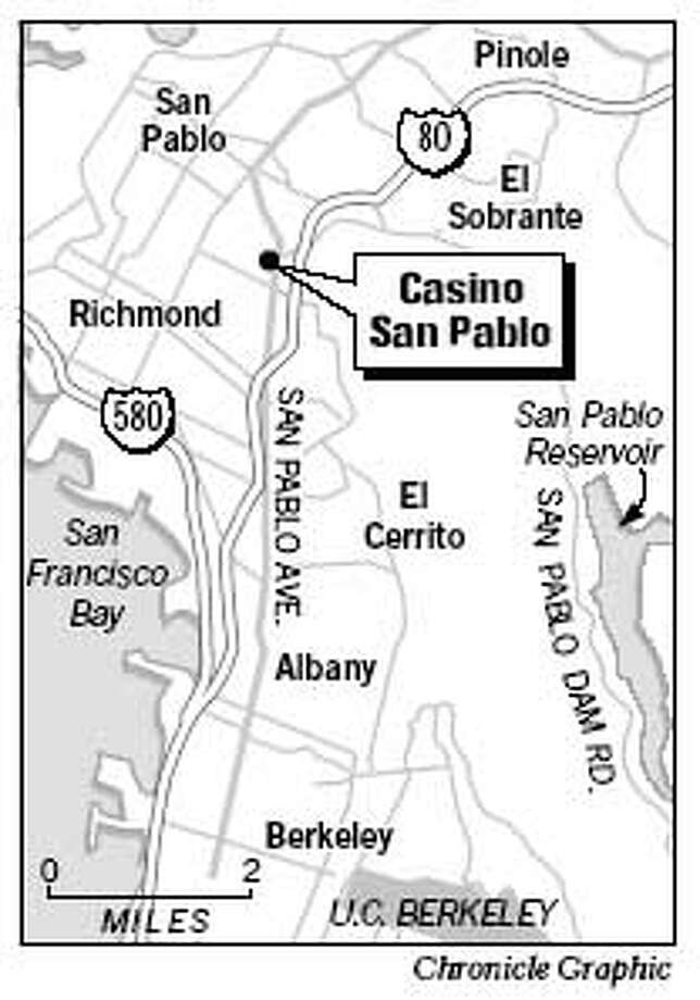 Casino San Pablo. Chronicle Graphic