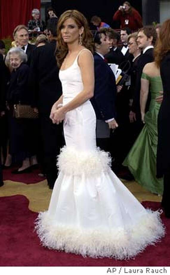 Sandra Bullock arrives for the 76th annual Academy Awards Sunday, Feb. 29, 2004, in Los Angeles. Bullock will be a presenter during the telecast. (AP Photo/Laura Rauch) Photo: LAURA RAUCH